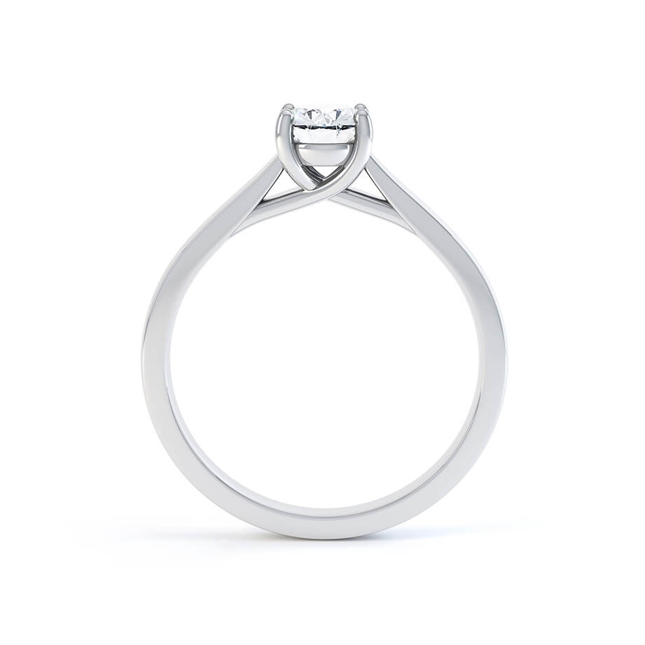 Lily Arkwright Engagement Ring LAYLA - Charles & Colvard Moissanite 18K White Gold Oval Solitaire Ring