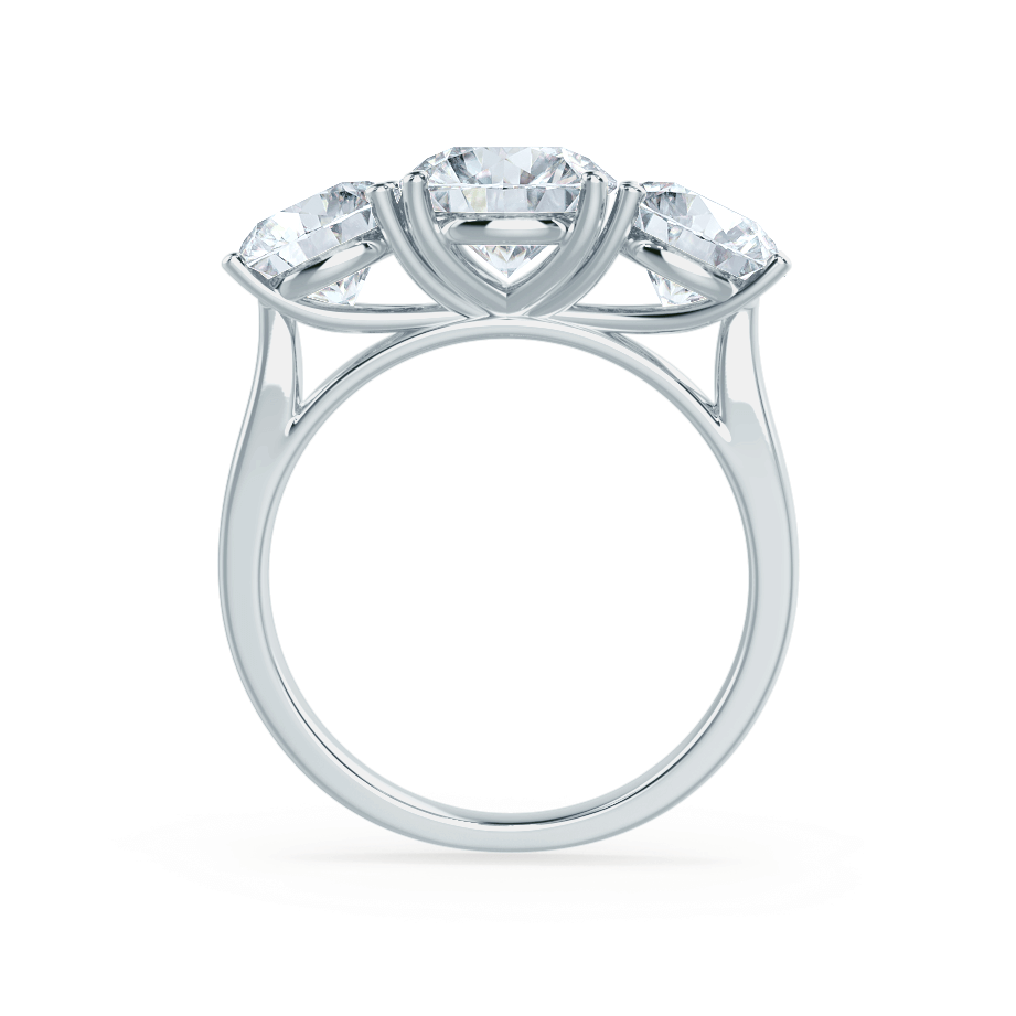 LEANORA - Moissanite Platinum Trilogy Ring