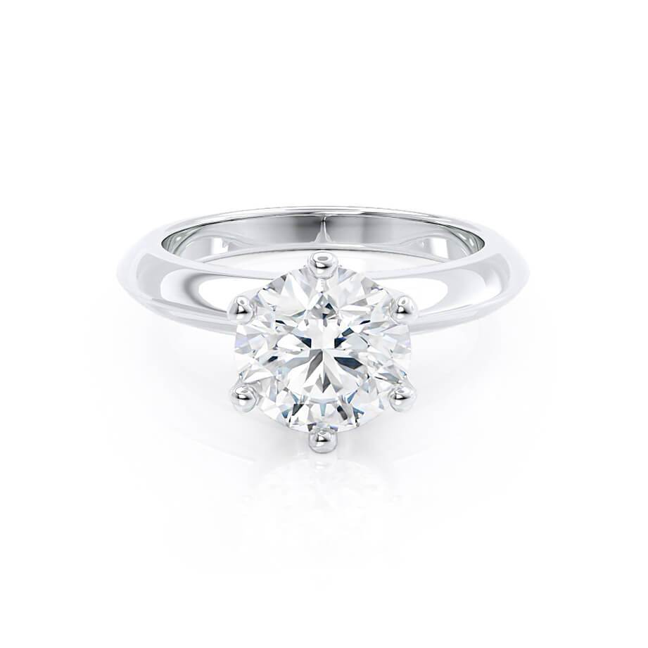 Lily Arkwright Engagement Ring SERENA - Moissanite 9k White Gold Solitaire Ring
