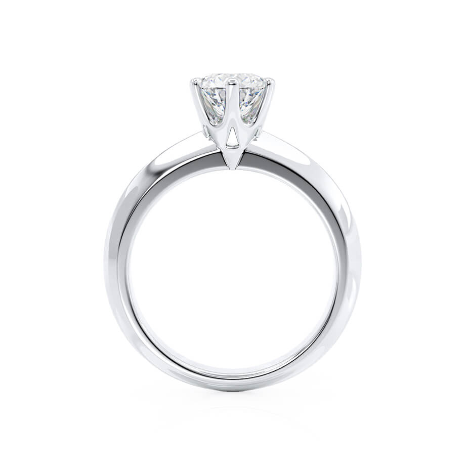 Lily Arkwright Engagement Ring SERENA - Moissanite Platinum Solitaire Ring