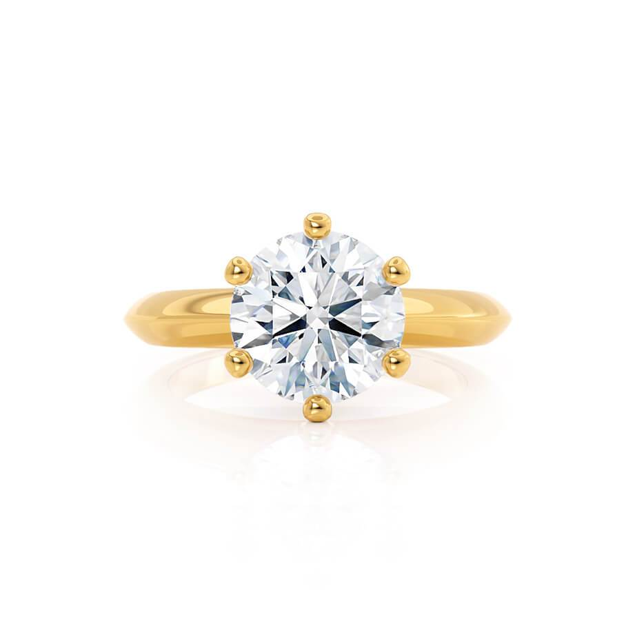 SERENA - Moissanite 18k Yellow Gold Solitaire Ring