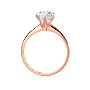 LILLIE - Premium Certified Lab Diamond 6 Claw Solitaire 18k Rose Gold Engagement Ring Lily Arkwright