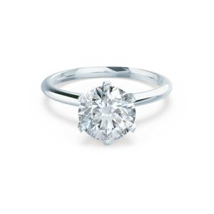 Lillie Premium Certified Lab Diamond 6 Claw Solitaire 18k White Gold