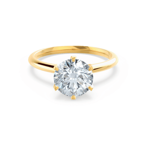 LILLIE - Premium Certified Lab Diamond 6 Claw Solitaire 18k Yellow Gold Engagement Ring Lily Arkwright