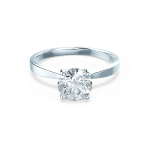 LOTTIE - Premium Certified Lab Diamond 4 Claw Solitaire 18k White Gold Engagement Ring Lily Arkwright