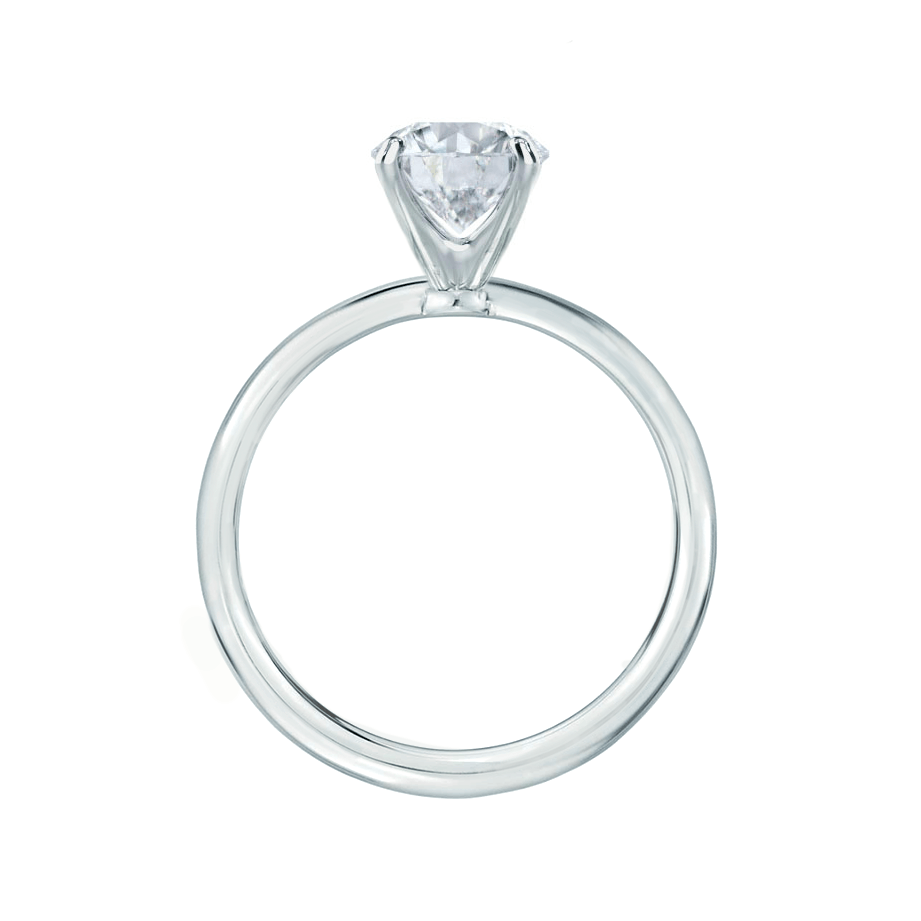 Lily Arkwright Engagement Ring IRIS - Round Charles & Colvard Moissanite 18k White Gold Petite Channel Set