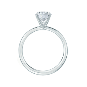 IRIS - Round Charles & Colvard Moissanite 18k White Gold Petite Channel Set
