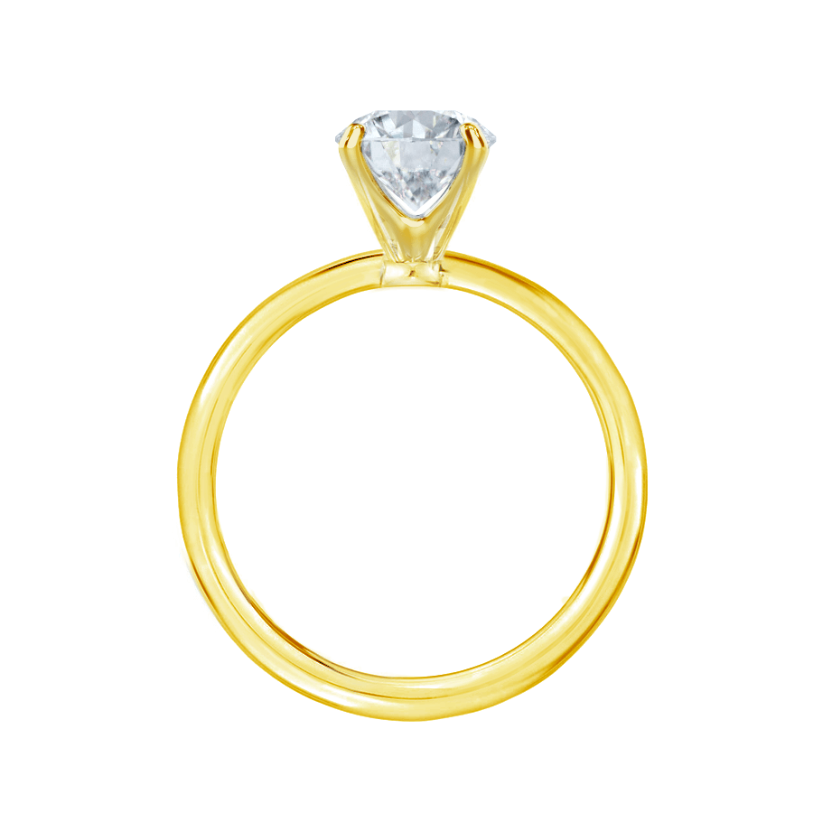 IRIS - Round Moissanite 18k Yellow Gold Petite Channel Set Ring Engagement Ring Lily Arkwright