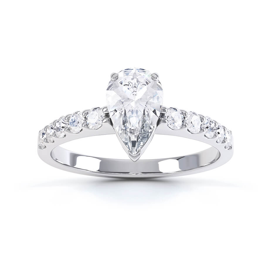 OLIVETT - Charles & Colvard Moissanite & Diamond Platinum Solitaire Ring