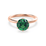 SERENITY - Chatham® Lab Grown Emerald 18k Rose Gold Solitaire