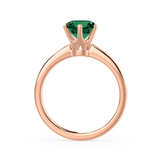 Lily Arkwright Engagement Ring SERENITY - Chatham® Lab Grown Emerald 18k Rose Gold Solitaire