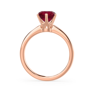 Lily Arkwright Engagement Ring SERENITY - Chatham® Lab Grown Red Ruby 18k Rose Gold Solitaire