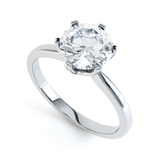 SERENITY - Moissanite Platinum Solitaire Engagement Ring
