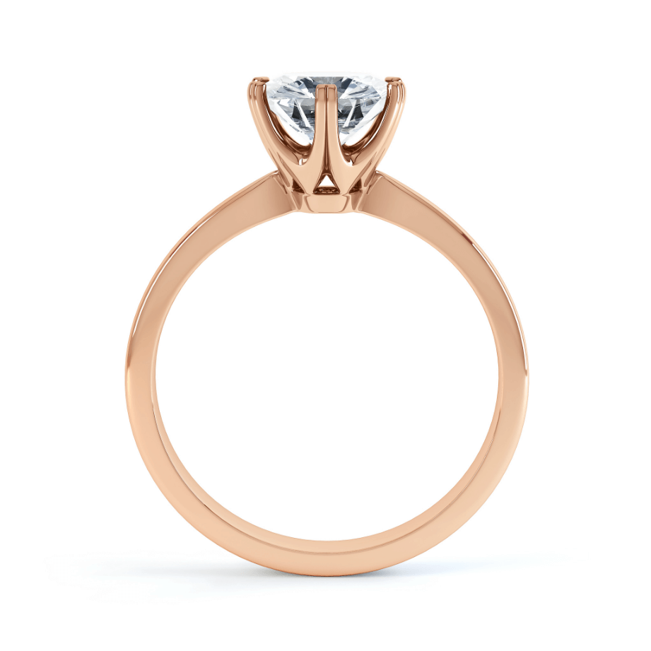 Serenity Moissanite 18k Rose Gold Solitaire Ring