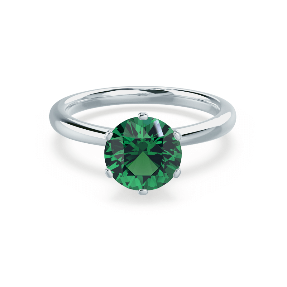 SERENITY - Lab Grown Emerald Platinum Solitaire