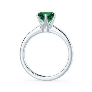 Lily Arkwright Engagement Ring SERENITY - Lab Grown Emerald Platinum Solitaire