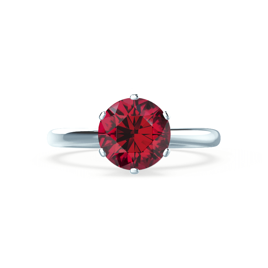 Serenity Chatham® Lab Grown Red Ruby Platinum Solitaire