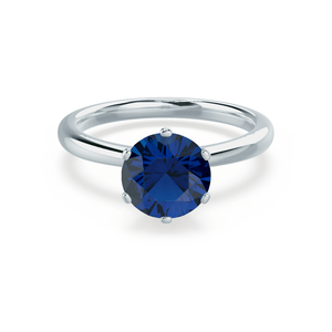 SERENITY - Lab Grown Blue Sapphire 18k White Gold Solitaire
