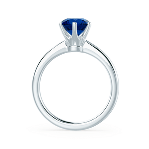 Serenity Lab Grown Blue Sapphire 18k White Gold Solitaire