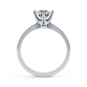 SERENITY - 0.5ct Diamond 18K White Gold 6 Claw Solitaire