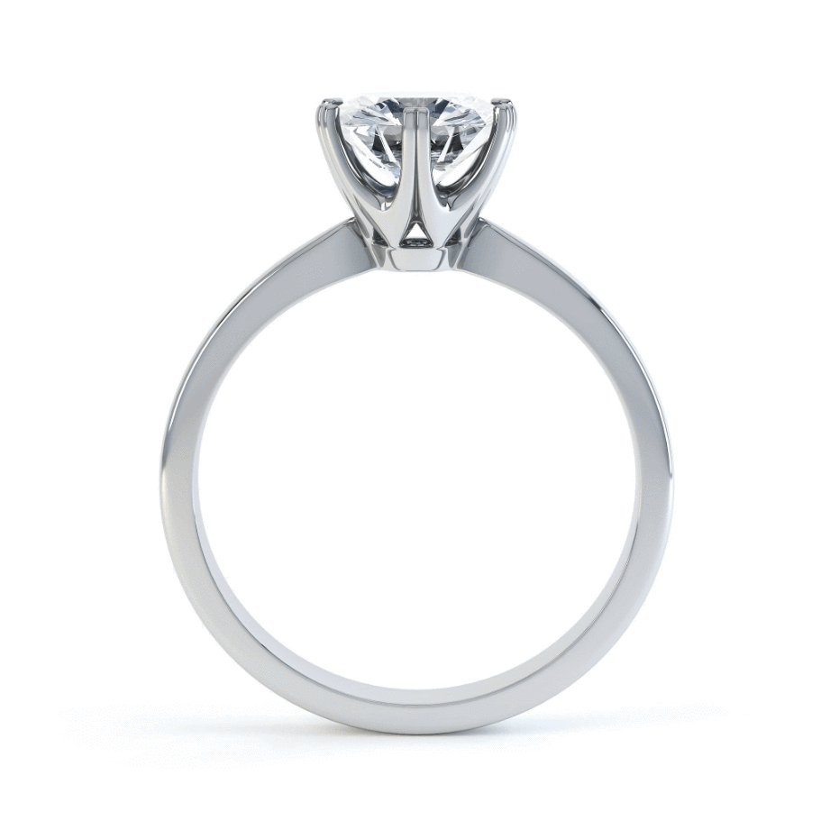 SERENITY - Certified Lab Diamond 6 Claw Solitaire