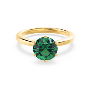 Lily Arkwright Engagement Ring SERENITY - Chatham® Lab Grown Emerald 18k Yellow Gold Solitaire