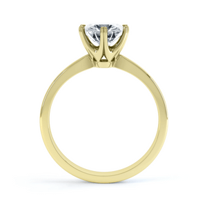 Lily Arkwright Engagement Ring SERENITY - Moissanite 18k Yellow Gold Solitaire Ring
