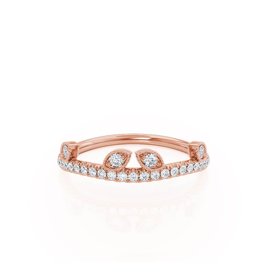 WILLOW - 18k Rose Gold Pavé Eternity Band Eternity Lily Arkwright
