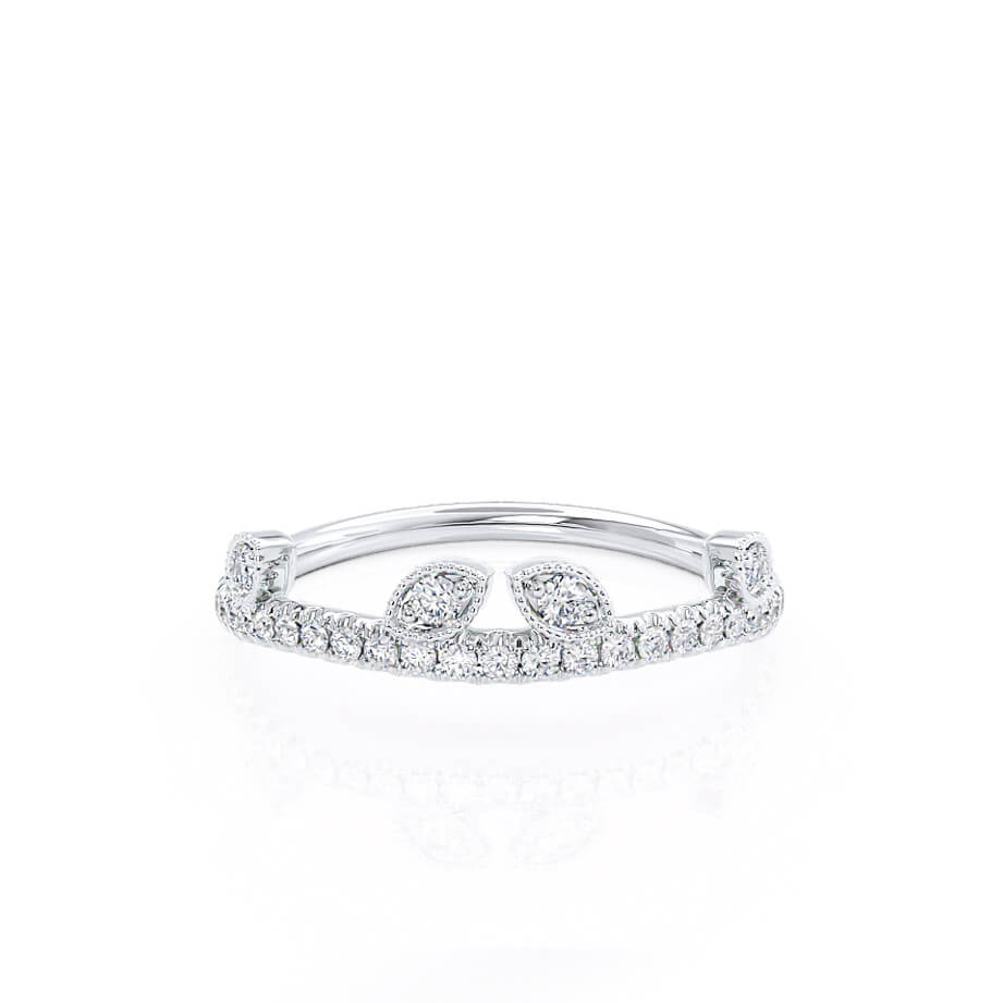 WILLOW - 18k White Gold Pavé Eternity Band