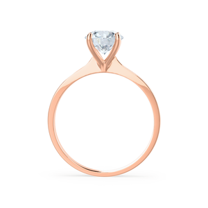 Lily Arkwright Engagement Ring LOTTIE - 4 Prong Brilliant Round Moissanite 18K Rose Gold Tulip Solitaire