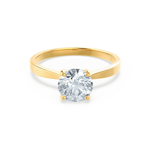 LOTTIE - Premium Certified Lab Diamond 4 Claw Solitaire 18k Yellow Gold