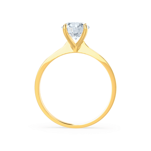 LOTTIE - Premium Certified Lab Diamond 4 Claw Solitaire 18k Yellow Gold Engagement Ring Lily Arkwright