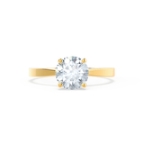 LOTTIE - Round Moissanite 18K Yellow Gold 4 Prong Tulip Solitaire Ring Engagement Ring Lily Arkwright