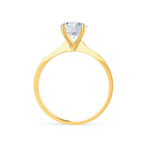 Lily Arkwright Engagement Ring LOTTIE - 4 Prong Brilliant Round Moissanite 18K Yellow Gold Tulip Solitaire