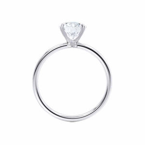 LULU - Elongated Cushion Moissanite 950 Platinum Petite Solitaire Ring Engagement Ring Lily Arkwright