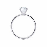 LULU - Round Moissanite 18k White Gold Petite Solitaire Ring Engagement Ring Lily Arkwright