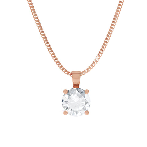 Rose gold moissanite pendant / necklace