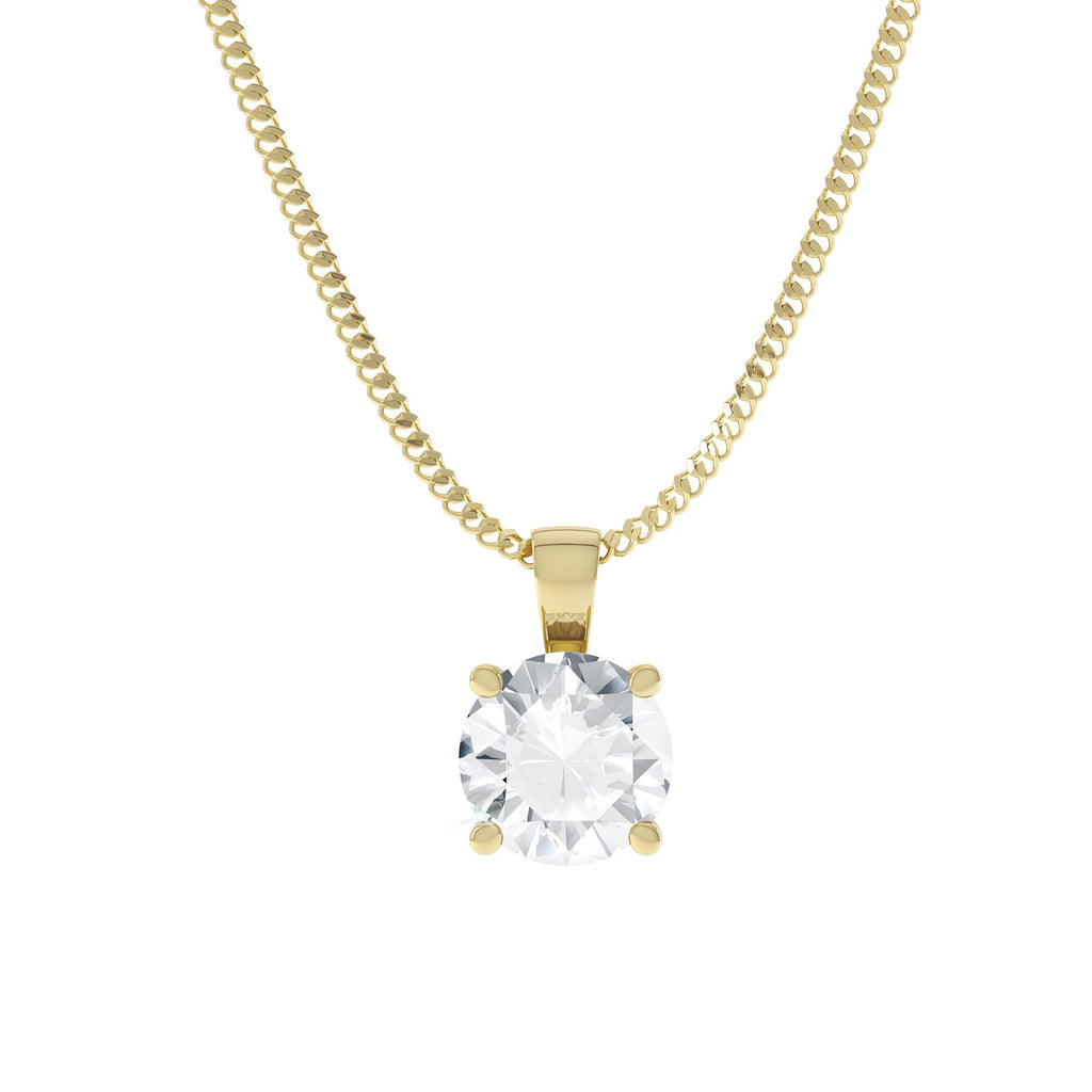 Yellow gold moissanite pendant
