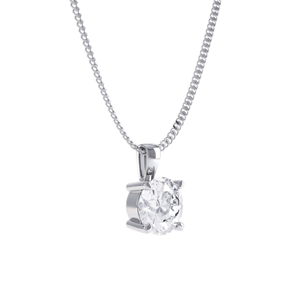 Forever One moissanite pendant platinum