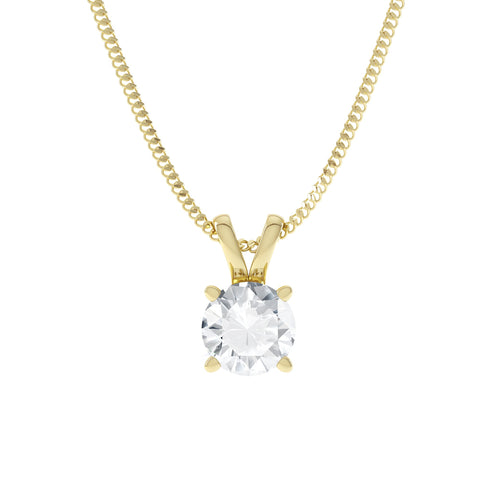 Clarabella Moissanite Pendant by Lily Arkwright