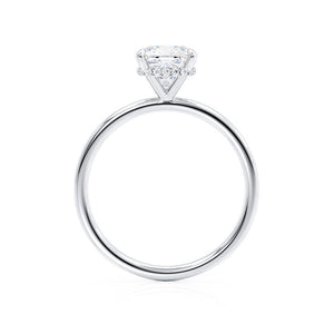 PARIS - Cushion Cut Moissanite & Diamond 950 Platinum Hidden Halo