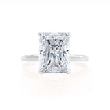 PARIS - Radiant Forever One Moissanite & Diamond 18k White Gold Hidden Halo