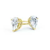 Scarlett 18K Yellow Gold Pear Cut Moissanite Earrings