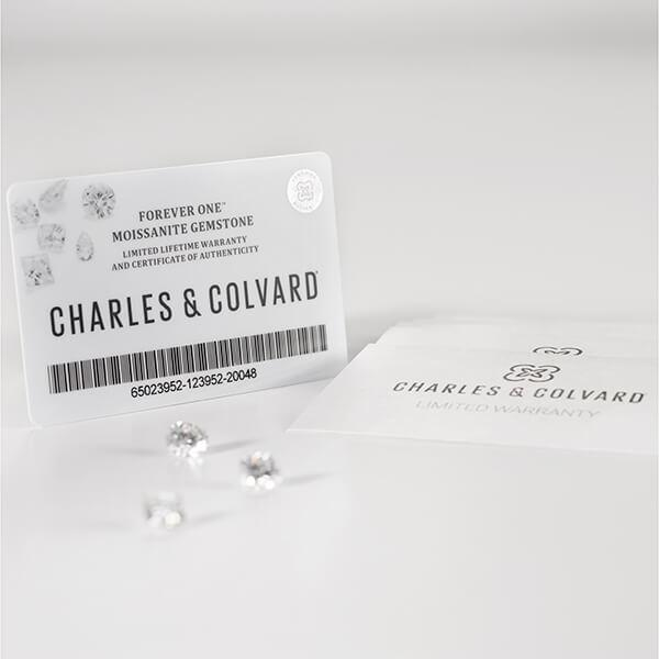 Iris Radiant Charles & Colvard Moissanite Platinum Petite Channel Set