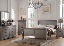 Louis Philippe Antique Grey Queen Bed