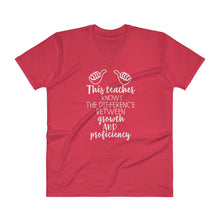This Teacher Knows the Difference Between Growth and Proficiency V Neck T Shirt
