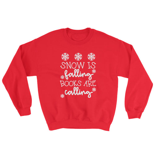 Snow Is Falling Books Are Calling Crewneck Sweatshirt