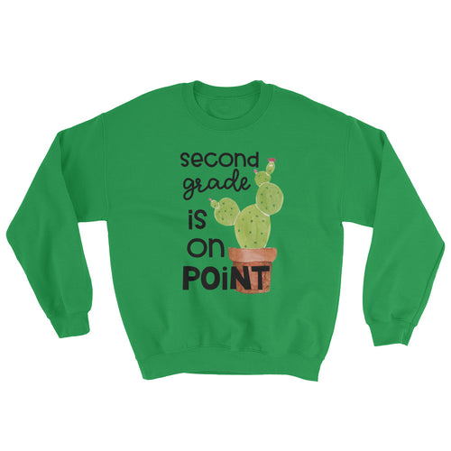 Second Grade Is On Point Crewneck Sweatshirt