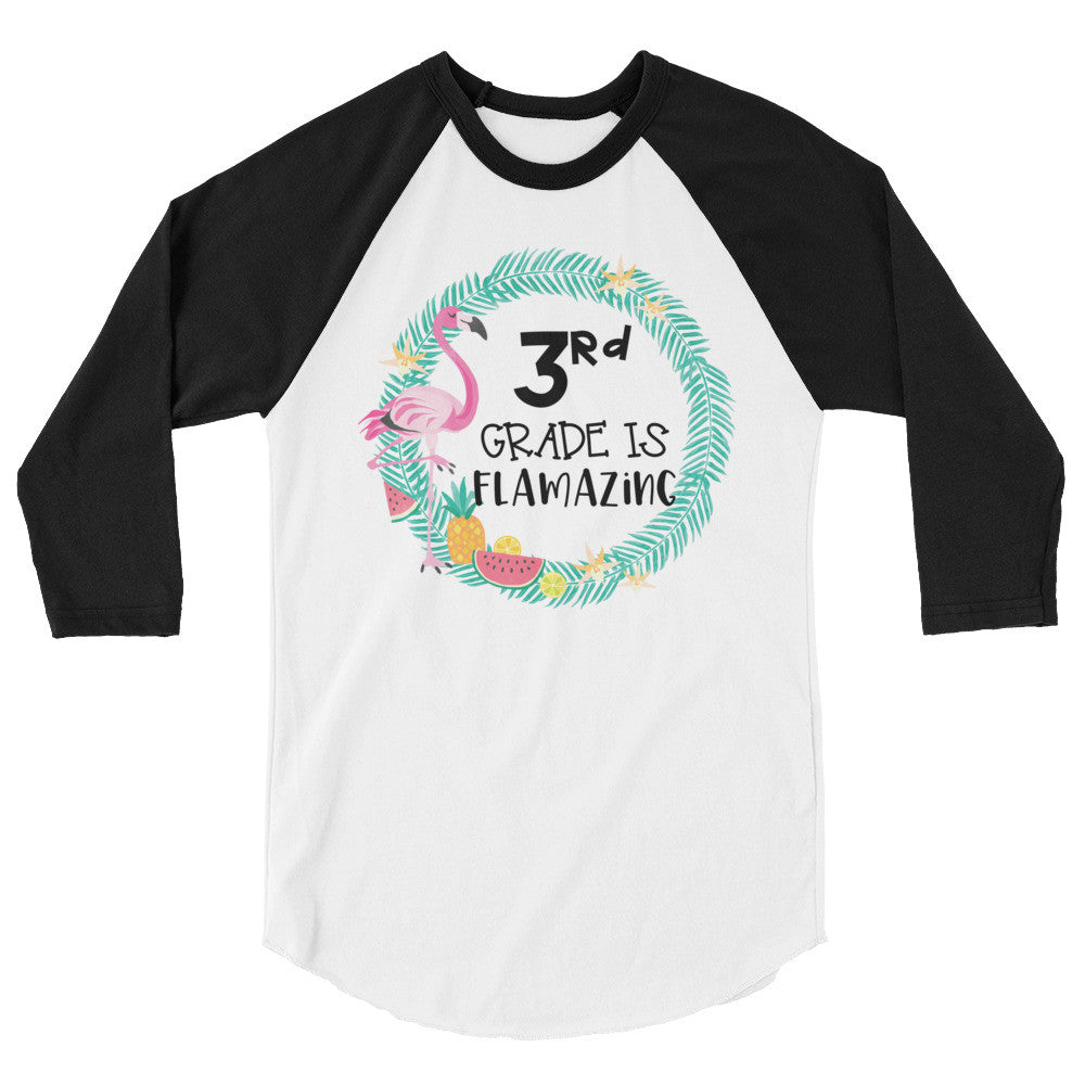 Third Grade Is Flamazing Baseball Shirt