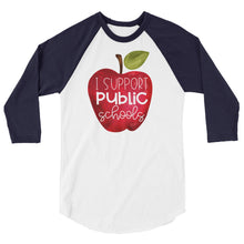 I Support Public Schools Baseball Shirt